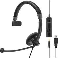 | SENNHEISER IMPACT SC 45 USB MS Cuffia Padiglione auricolare Connettore 3.5 mm USB tipo A Nero, Headset