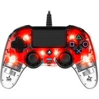 PS4OFCPADCLRED periferica di gioco Rosso, Trasparente Gamepad Analogico/Digitale PlayStation 4