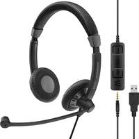 | SENNHEISER IMPACT SC 75 USB MS Cuffia Padiglione auricolare Connettore 3.5 mm USB tipo A Nero, Headset
