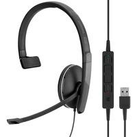 | SENNHEISER ADAPT 135 USB Cuffia Padiglione auricolare Connettore 3.5 mm USB tipo A Nero, Headset
