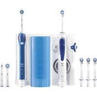 PRO 2000 + Oxyjet Adulto Spazzolino rotante oscillante Blu, Bianco, Cura orale