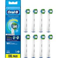 Precision Clean 80339358 testina per spazzolino 8 pz Blu, Bianco