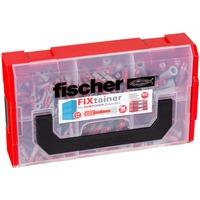 535968 scatola di conservazione Armadietto portaoggetti Rettangolare Nero, Rosso, Trasparente, Tassello