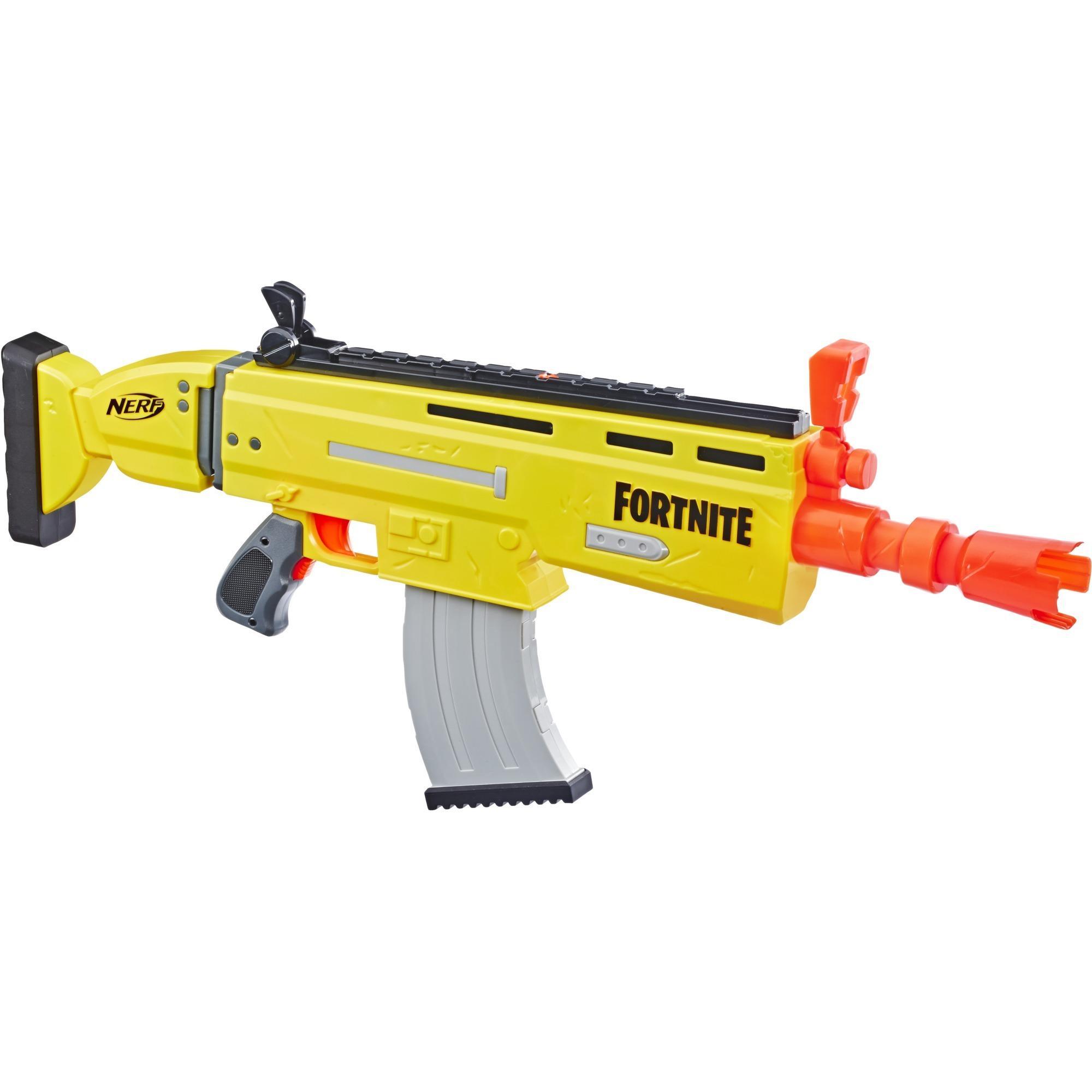 Fortnite AR L Nerf Elite Dart Blaster, Pistola NERF (giallogrigio, Blaster giocattolo, 8 annoi, RagazzoRagazza, Multicolore, Fortnite, 1,5 V)