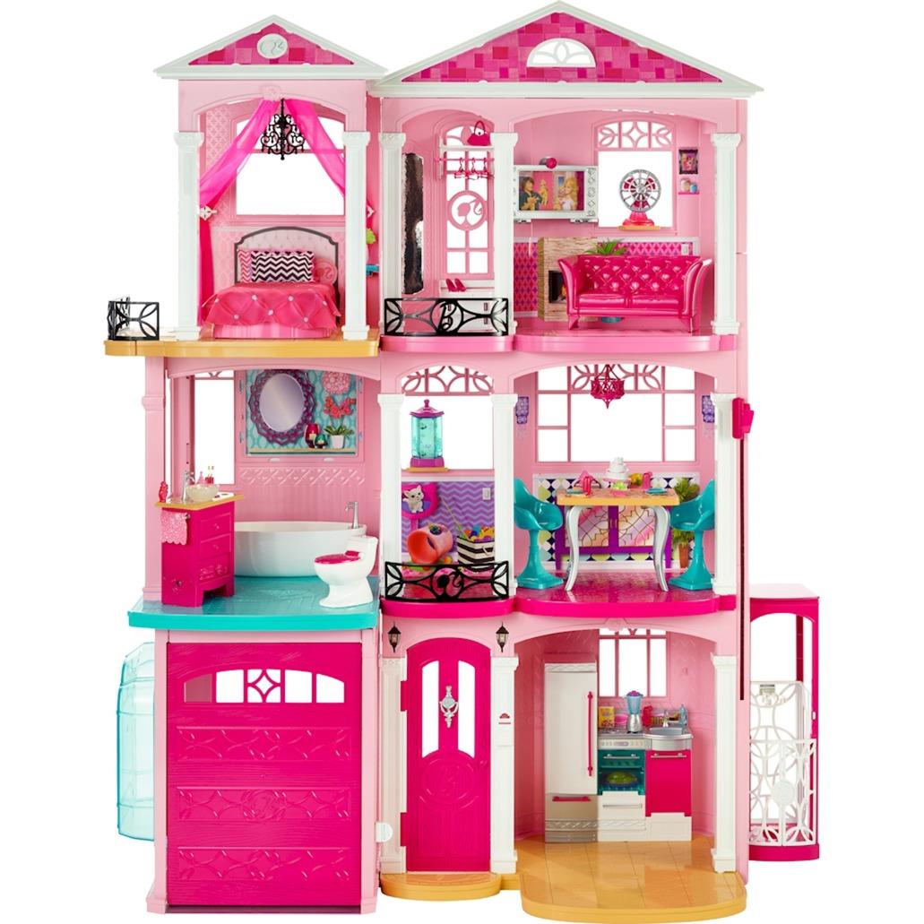 Casa dei sogni mattel con 3 bambole trova prezzi for Piani di casa con stima dei prezzi