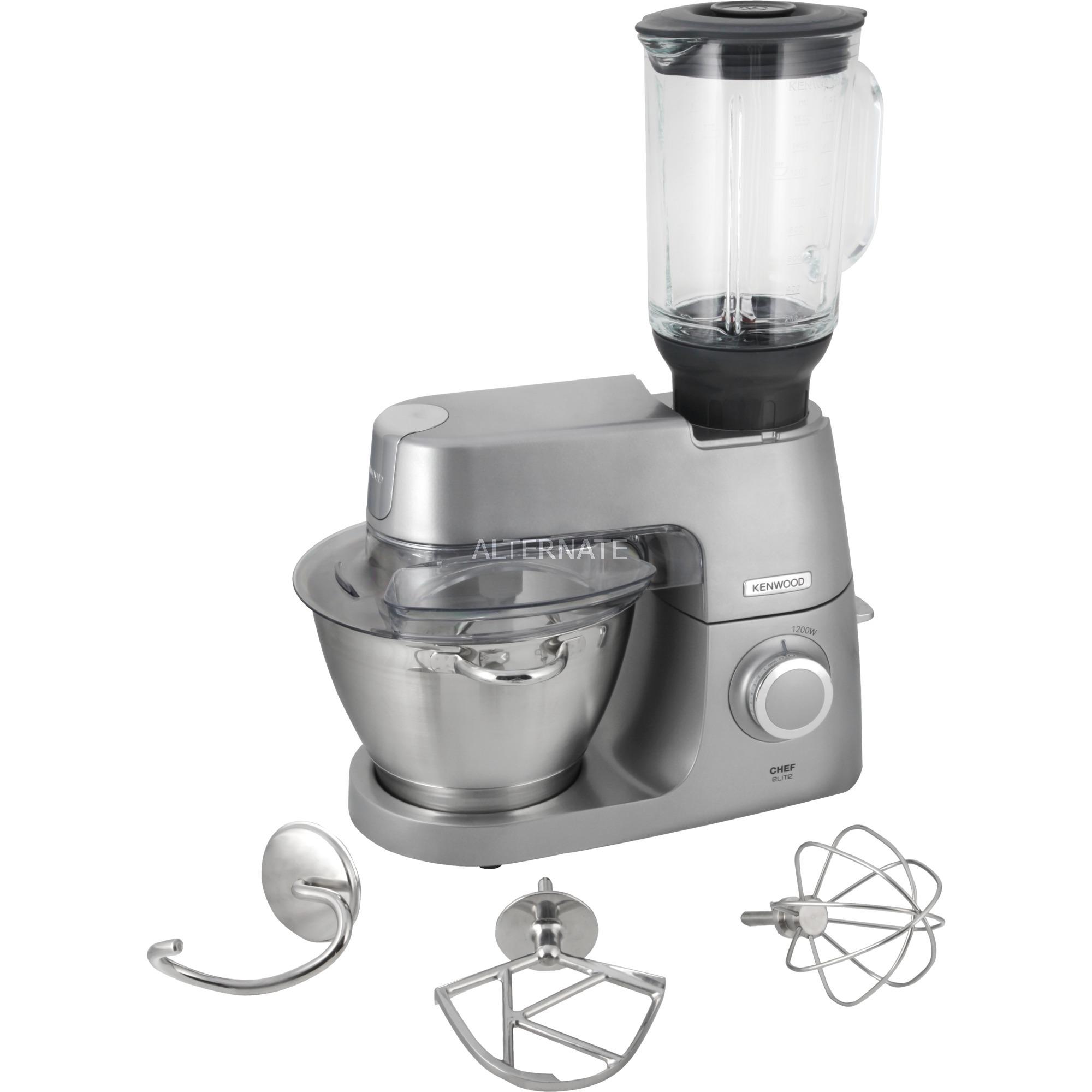 Kenwood Chef Elite robot da cucina 4,6 L Metallico 1200 W argento, 4 ...