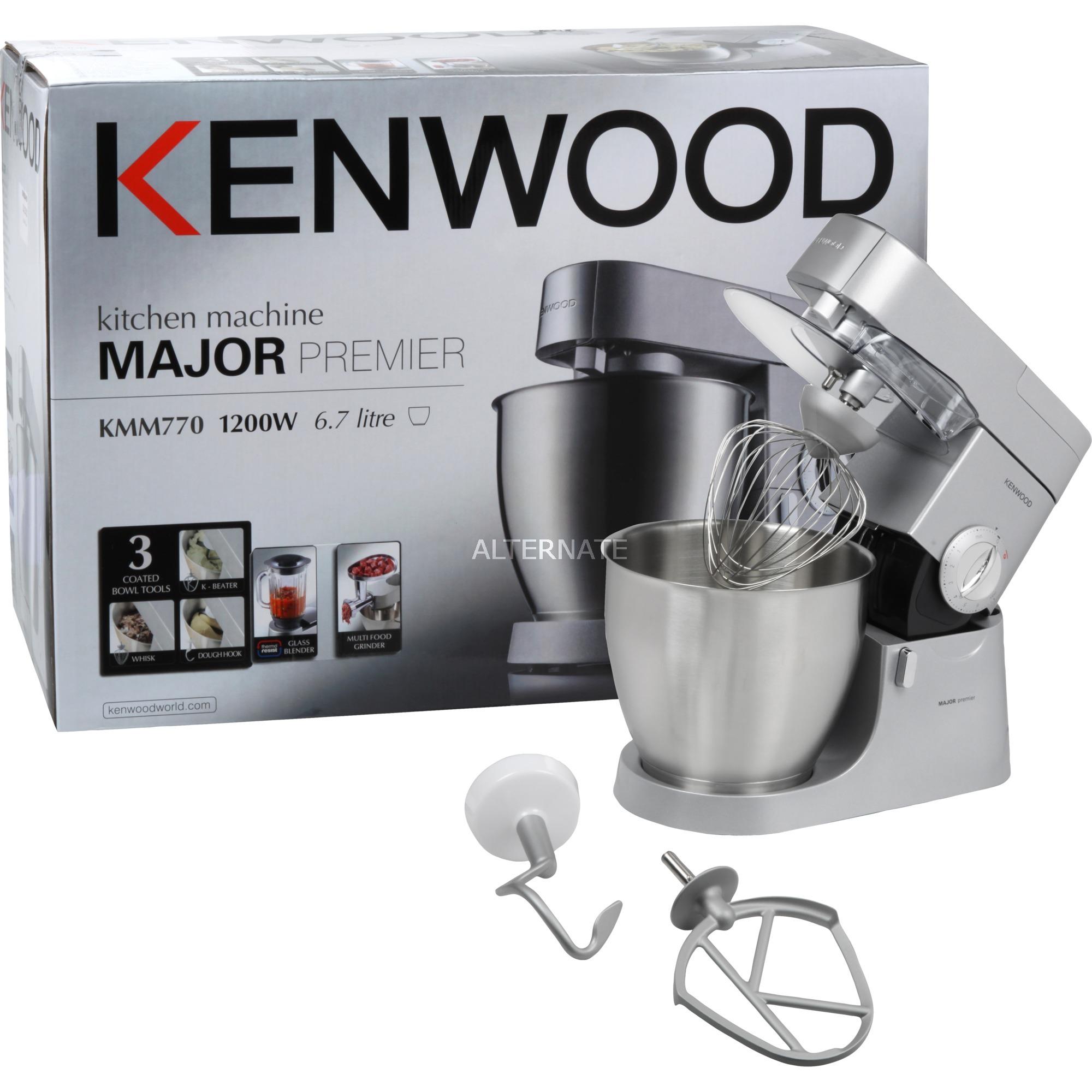 Kenwood Chef Major Premier KMM770 1200W 6.7L Argento robot da cucina ...
