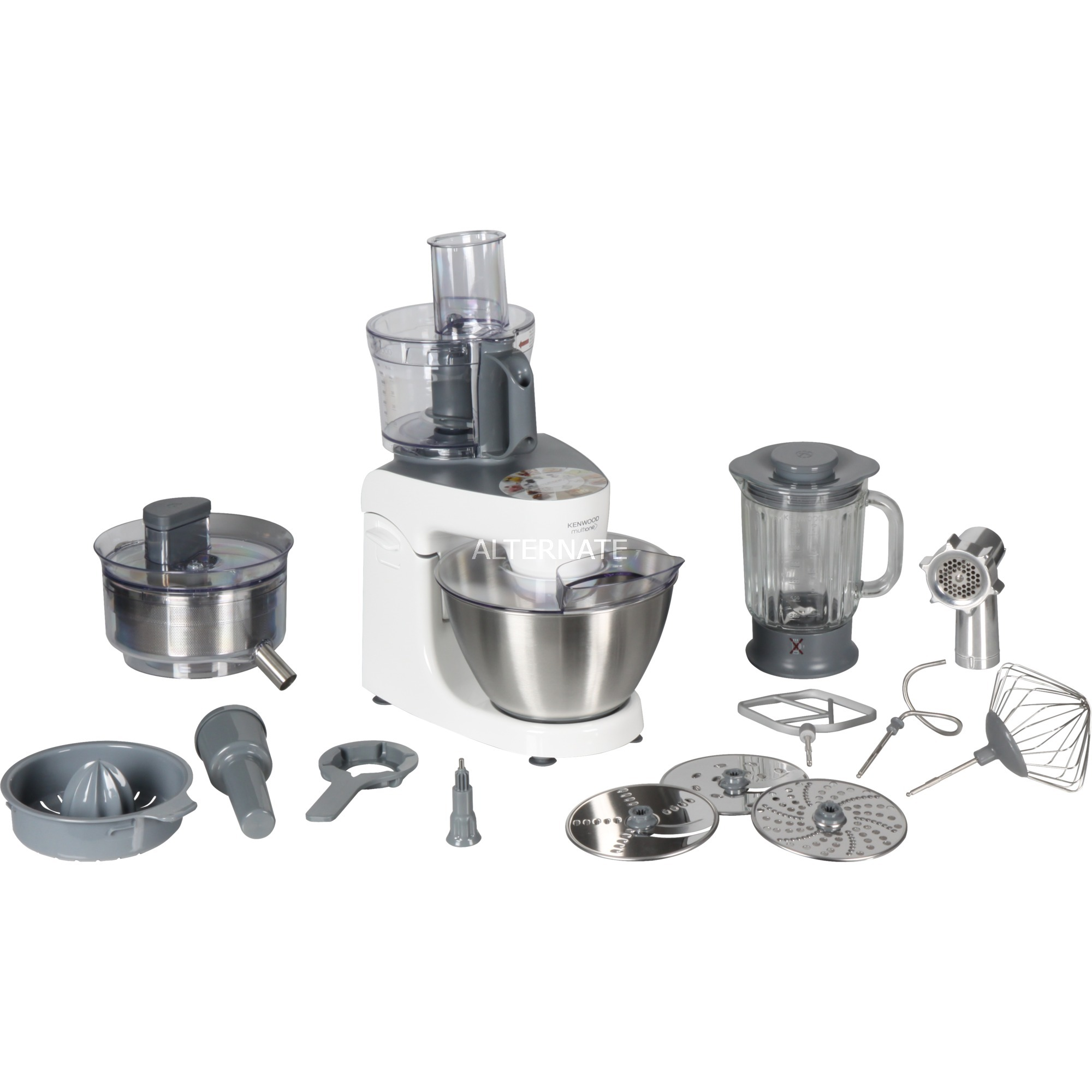 MultiOne robot da cucina 4,3 L Argento, Bianco 1000 W (bianco, 4,3 L,  Argento, Bianco, Manopola, Acciaio inossidabile, 1000 W, 290 mm)