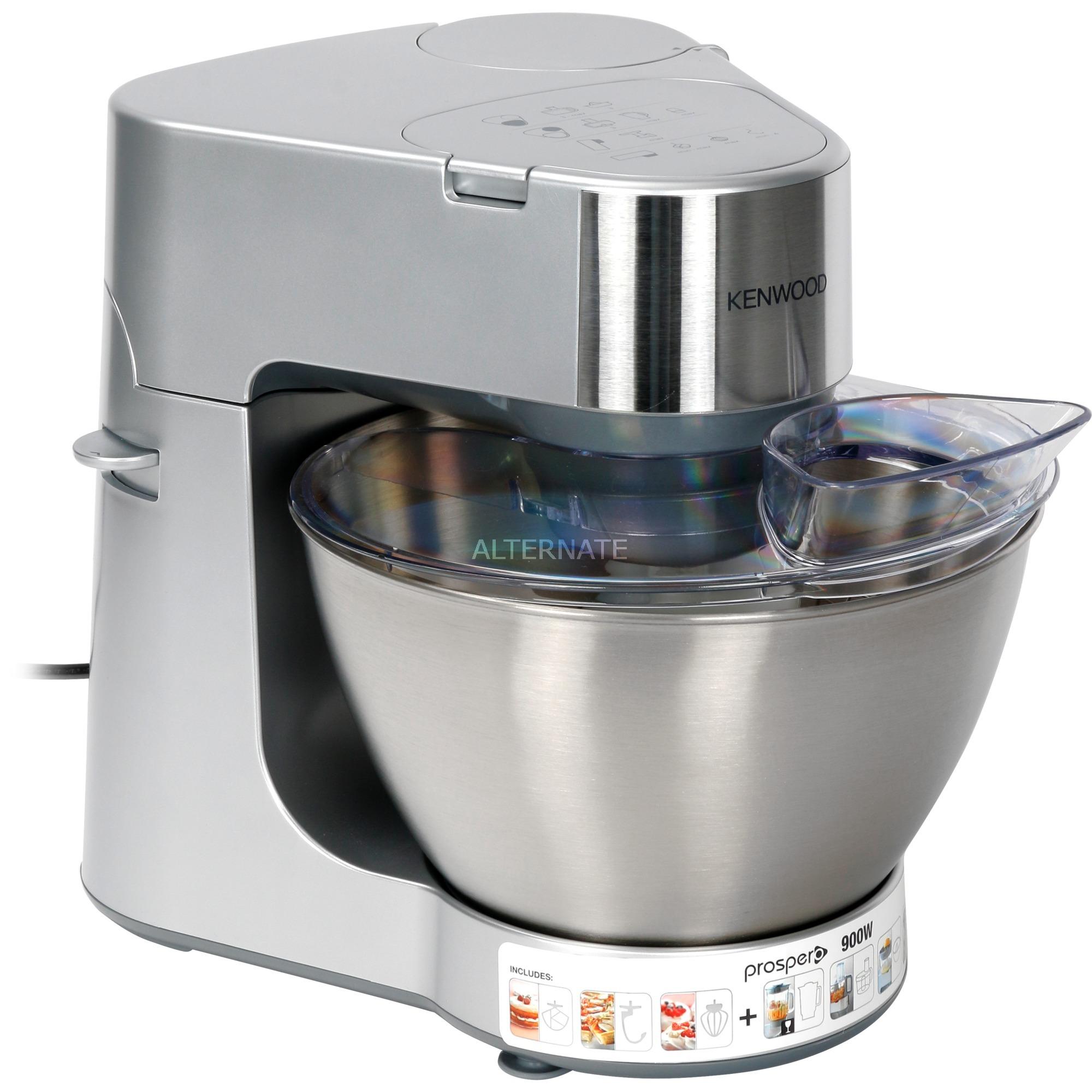 Prospero KM286 robot da cucina 4,3 L Acciaio inossidabile 900 W (argento,  4,3 L, Acciaio inossidabile, Acciaio inossidabile, Plastica, 900 W, 243 mm,  ...