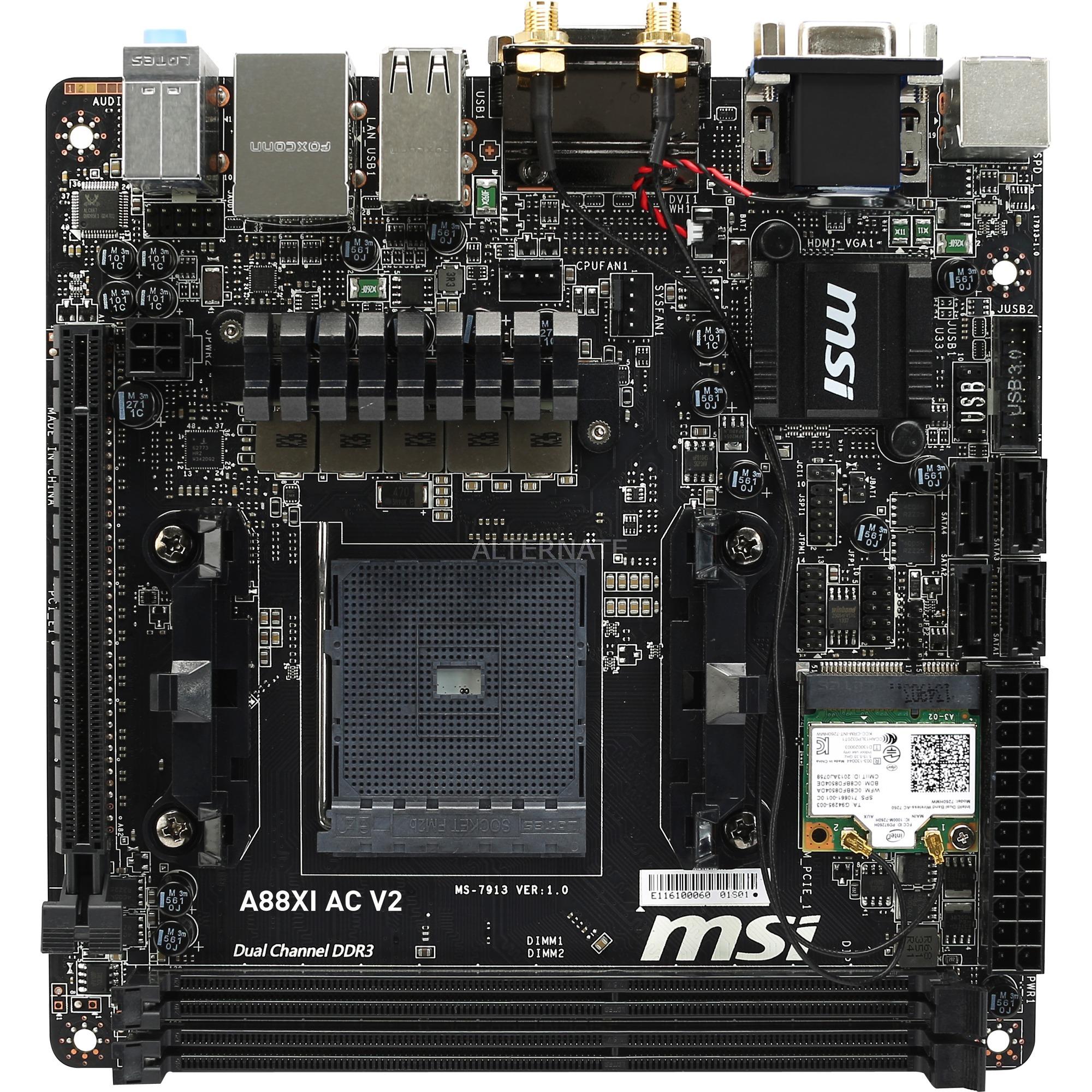 A88XI AC V2, Scheda madre