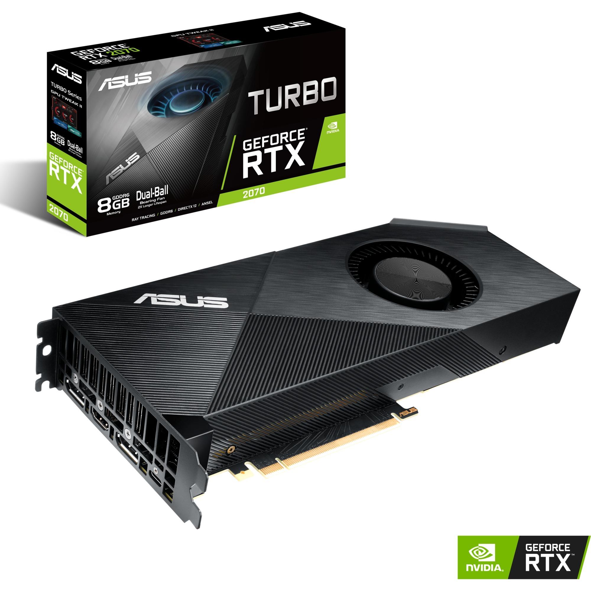Turbo -RTX2070-8G-EVO GeForce RTX 2070 8 GB GDDR6, Scheda grafica