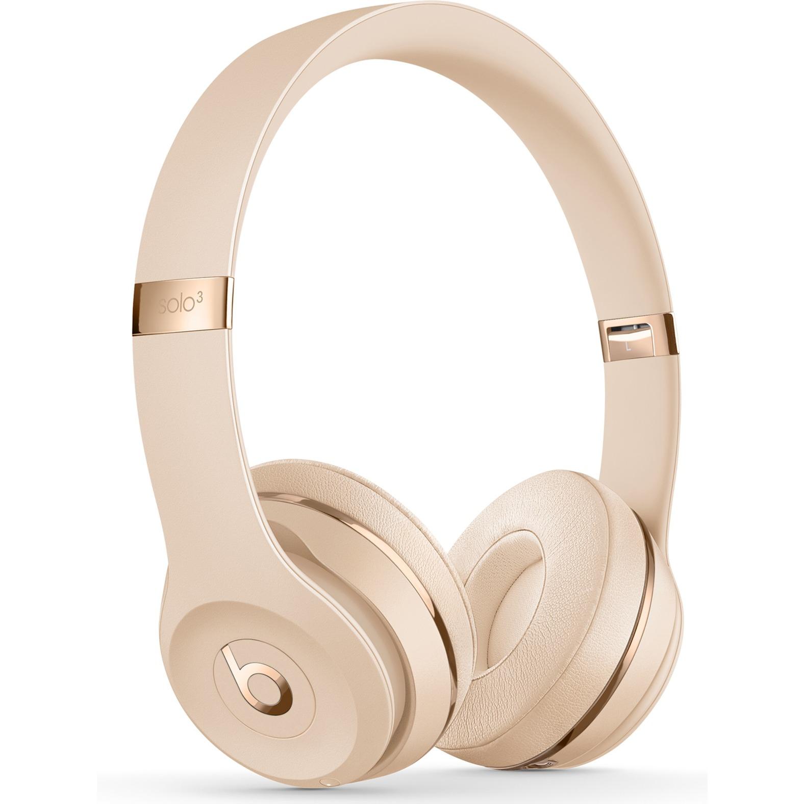 Beats Solo3 auricolare per telefono cellulare Stereofonico Padiglione  auricolare Oro Con cavo e senza cavo 79309b624259