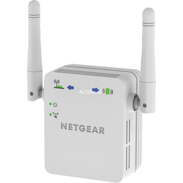 Netgear+WN3000RP-200PES+N300+Mbps+WiFi+Range+Extender+Universale,+Access+Point+Mode,+1+Porta+Fast+Ethernet,+Antenne+Esterne,+Bianco
