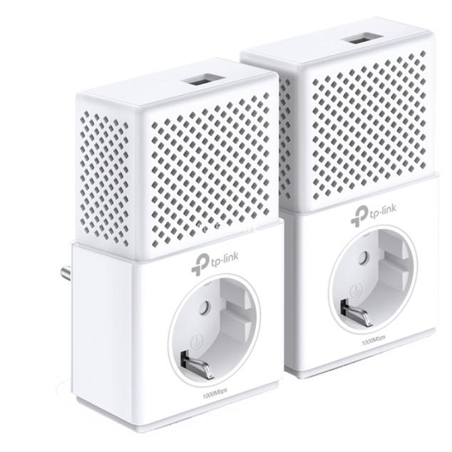 AV1000 1000 Mbit/s Collegamento ethernet LAN Bianco 2 pezzo(i), PowerLAN