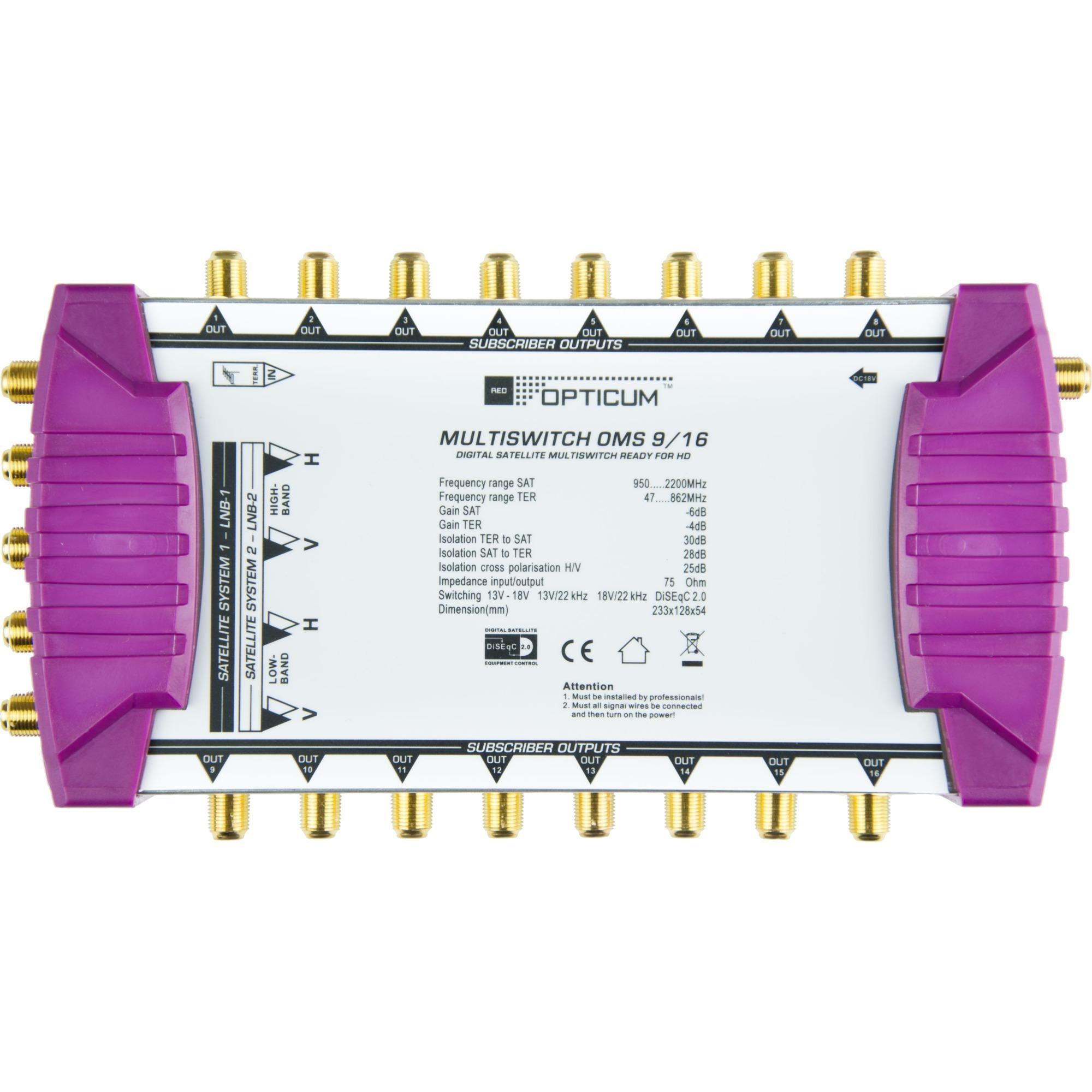 opticum 8 ingressi  5901912282629, Multi interruttore (bianco/Viola)